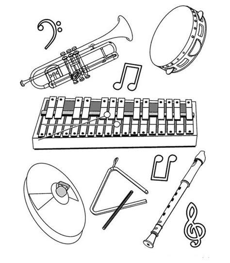 Instrument Kleurplaat by Kleurplaten En Zo 187 Kleurplaten Muziekinstrumenten
