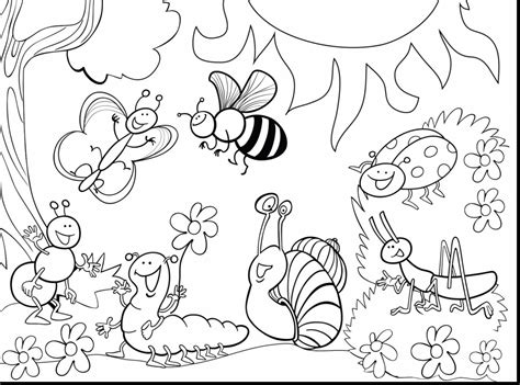 insect coloring page impressive printable insect coloring