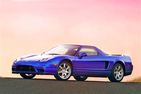 2003 acura nsx blue front angle