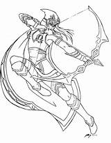 Legends Coloring League Ashe Lineart Adult Deviantart Drawings Characters Legend Drawing Cartoon Colouring Halloween Printable Irelia Lol Sketches Google Kindred sketch template