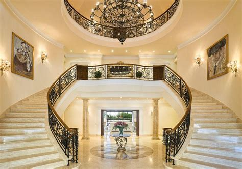 poll  grand double marble staircase   prefer homes   rich