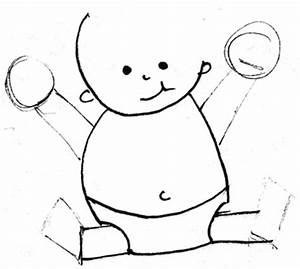 Step 5 Drawing Simple Cartoon Baby with Easy Drawing ...