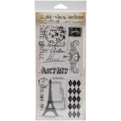 buy tim holtz visual artistry clear stamps french market