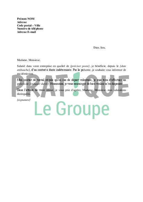 lettre de d 233 mission d un cdi job application letter