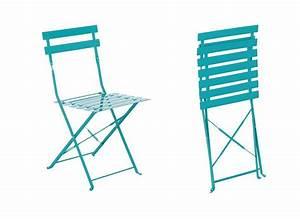 Awesome table et chaise de jardin metal images amazing for Chaise jardin pliante