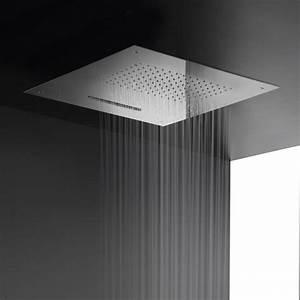 Douche Encastrable Plafond : plafond douche encastr pliue cascade 50x50 inox chrom ~ Premium-room.com Idées de Décoration