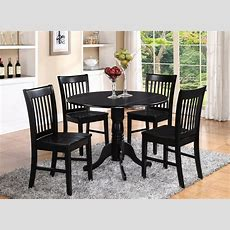 Dlno5blkw 5 Pieces Small Kitchen Table Setround Kitchen