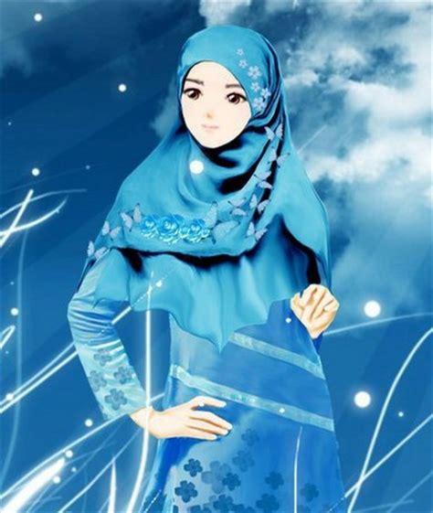 Wanita Hamil Dengan Babi Gambar Kartun Muslimah Berdo A Bergerak Comel Kumpulan