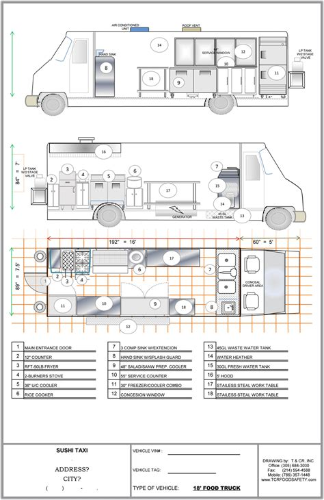 dimensions cuisine ft plan food trucks for sale used food trucks