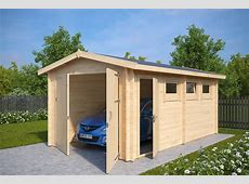 Wooden Garage A with Double Doors