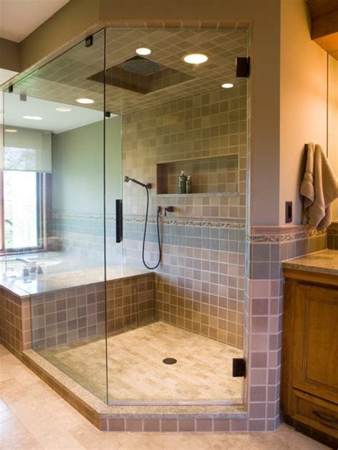 salle de bain avec douche italienne naturelle  relaxante