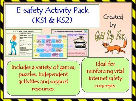 e safety activity pack ks1 and ks2 safety by