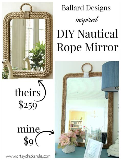 rope mirror ideas  pinterest nautical