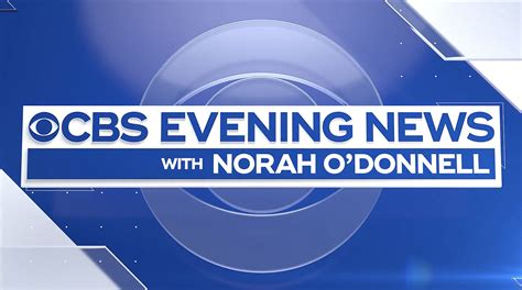 Cbs Evening News With Norah Donnell Motion Graphics