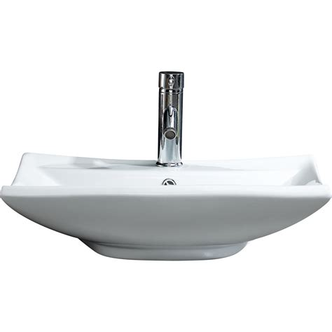 Modern Bathroom Vessel Sinks by Fixtures Modern Vitreous Square Vessel Sink Vessel
