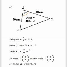 C2 Sine Rule  Why Are There Two Different Solutions For