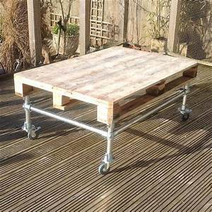 diy outdoor pallet coffee table with metal base 101 pallets With build outdoor coffee table