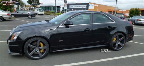 Black Rims For Cadillac Cts by Cadillac Cts Niche Milan M134 Wheels Black Machined