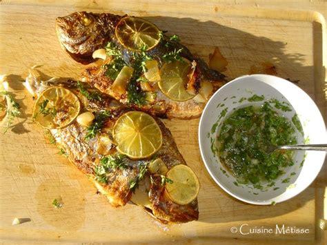 les recettes de babette cuisine antillaise dorade grillée des îles cuisine métisse