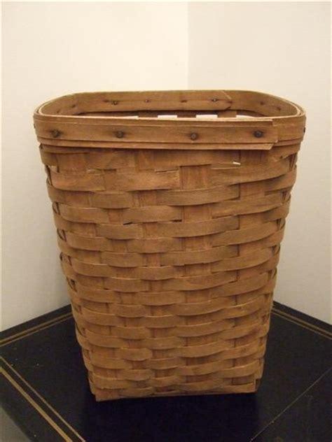 retired longaberger collectors waste basket baskets