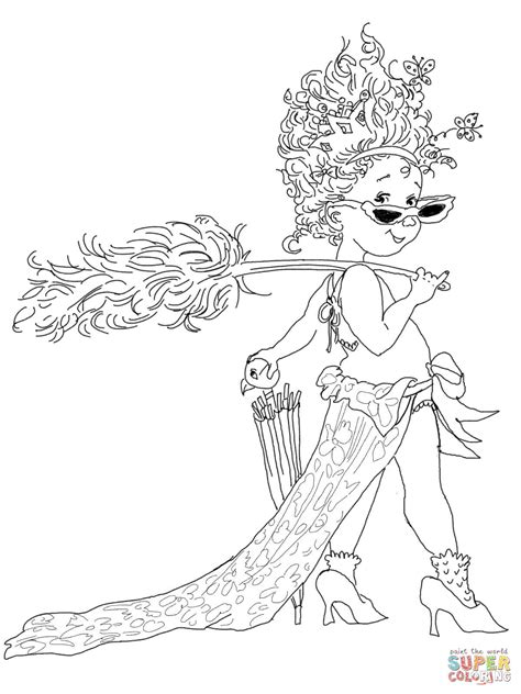 Fancy Nancy Coloring Pages Free Printable Fancy Nancy With