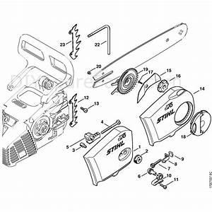 Stihl 019 T Chainsaw  019t  Parts Diagram  Chain Cover