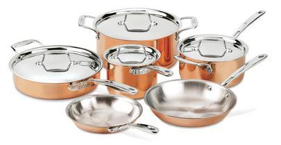 copper  piece set cookware set cookware  bakeware  clad