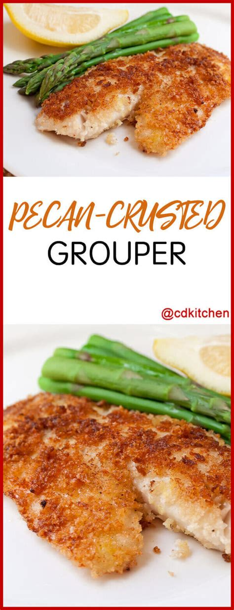 grouper crusted pecan recipe recipes cdkitchen fish crust oven bass fillet sea fillets snapper dishes