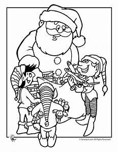 santas elf coloring pages az coloring pages