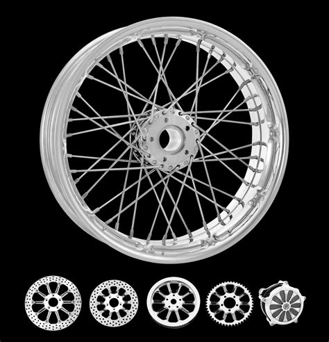pm motorcycle wire wheels spoked