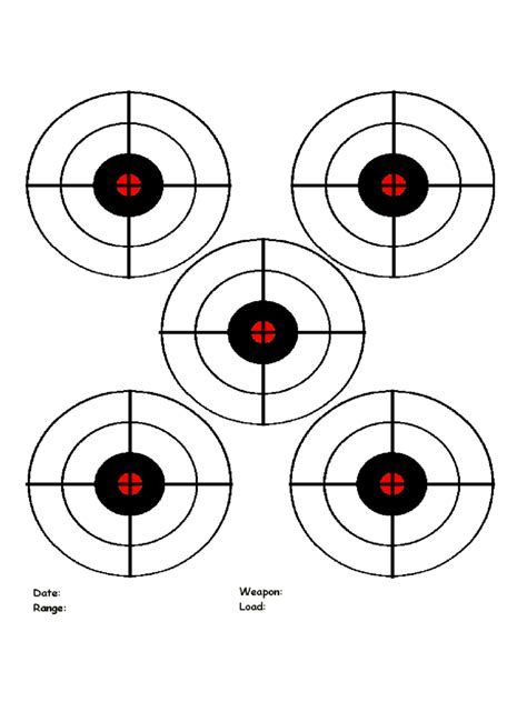 printable targets   templates   word excel