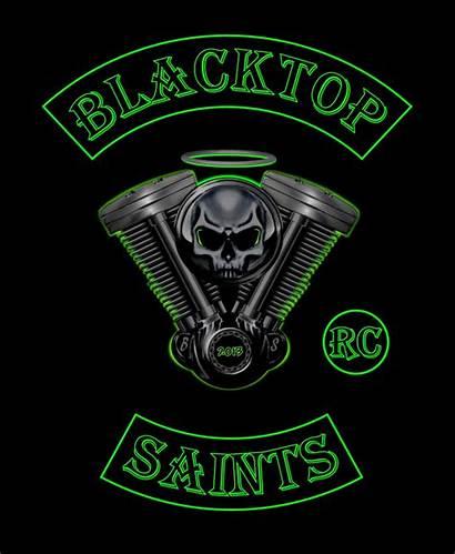 Motorcycle Clubs Biker Saints Patches Blacktop Bikers