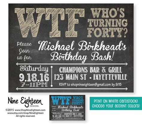 FREE 40th Birthday Invitation Wording Bagvania FREE