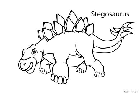 printable dinosaur coloring pages  names dinosaurs