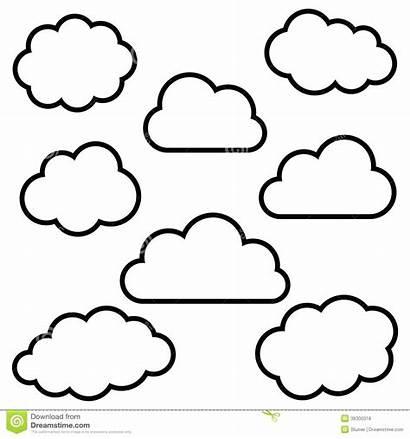 Cloud Template Clipart Sky Templates Clouds Stencil