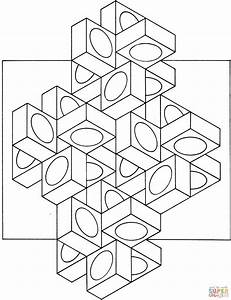 Optical Illusion Coloring Pages - Coloring Home