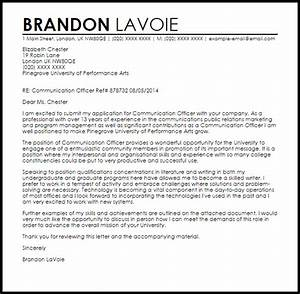 communication officer cover letter sample livecareer With sample cover letter for communications job