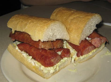 mothers restaurant smoked sausage poboy flickr