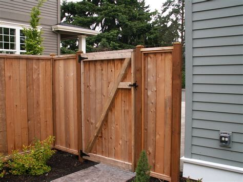 Outdoor Wood Fence Gate • Fences Ideas
