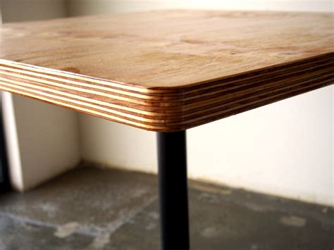 We will kiln dry and glue panel, sand and cut to shape. plywood cafe table - Gerry Kho Products
