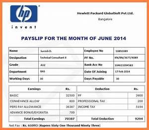 5+ employee payment slip format | Salary Slip