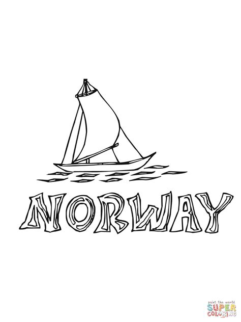 Norwegian Fjord Coloring Pages Coloring Pages