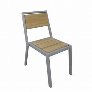 chaise de jardin en aluminium nautique taupe leroy merlin With leroy merlin chaise jardin