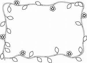 Flower Border Black & White Clip Art at Clker.com - vector ...