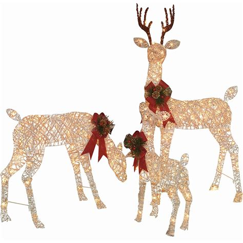 images of christmas lite deers outside lighted moose yard decoration