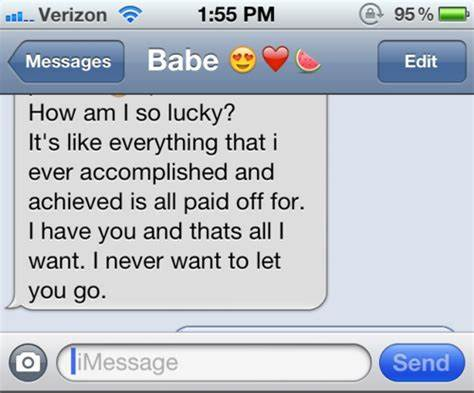 Pretty Text Messages For Him