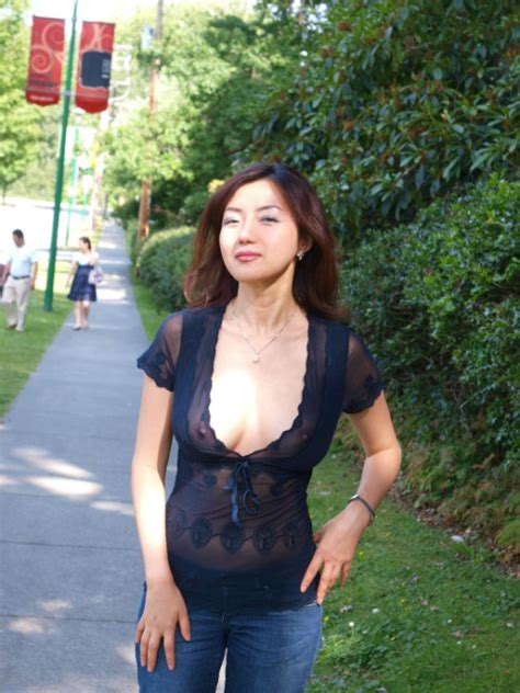 Pretty Korean wife in sheer shirt