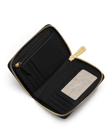 jet black travel wallet michael michael kors medium jet set travel ziparound