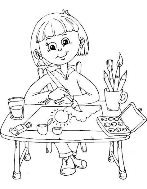 gambar mewarnai anak sedang belajar