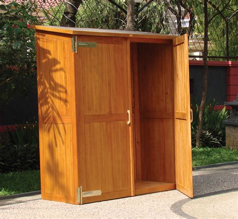 Outdoor Storage Cupboards by Wooden Outdoor Storage Cabinets With Doors Outside